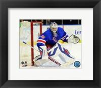 Framed Henrik Lundqvist 2013-14 Action on the ice
