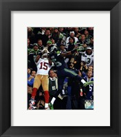 Framed Richard Sherman pass deflection 2013 NFC Championship Game