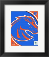 Framed Boise St. University Broncos Team Logo
