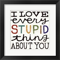 Framed I Love Every Stupid Thing About You