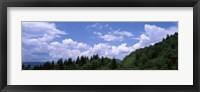 Framed Clouds over mountains, Cherokee, Blue Ridge Parkway, North Carolina, USA