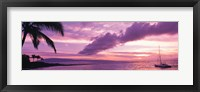 Framed Sunset Kapala Bay Maui HI USA