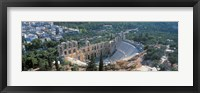 Framed Odeon tu Herodu Attku the Acropolis Athens Greece
