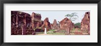 Framed Ruins of temples, Champa, My Son, Vietnam
