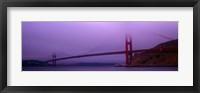 Framed Suspension bridge across the sea, Golden Gate Bridge, San Francisco, Marin County, California, USA