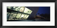 Framed Concert hall lit up at night, Casa Da Musica, Porto, Portugal