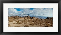 Framed Rock formations in a desert, Alabama Hills, Owens Valley, Lone Pine, California, USA