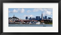 Framed Buildings at the waterfront, Transamerica Pyramid, Coit Tower, Fisherman's Wharf, San Francisco, California, USA
