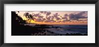 Framed Sunset North Shore, Oahu, Hawaii