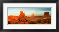 Framed Three Buttes Rock Formations at Monument Valley, Utah-Arizona Border, USA