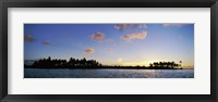 Framed Motus at Sunset, Bora Bora, Society Islands, French Polynesia