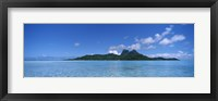 Framed Bora Bora from Motu Iti, Society Islands, French Polynesia