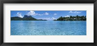 Framed Motu and lagoon, Bora Bora, Society Islands, French Polynesia