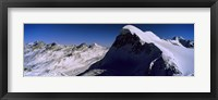 Framed Swiss Alps from Klein Matterhorn, Switzerland