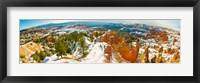 Framed Rock formations in a canyon, Bryce Canyon, Bryce Canyon National Park, Red Rock Country, Utah, USA