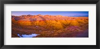 Framed Rock formations on a landscape, Badlands National Park, South Dakota, USA