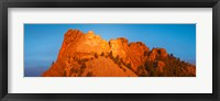 Framed Low angle view of a monument, Mt Rushmore, South Dakota