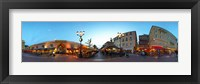 Framed Street with buildings at dusk, Nice, Alpes-Maritimes, Provence-Alpes-Cote d'Azur, France