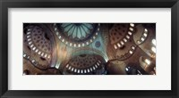 Framed Panoramic Images of a Blue Mosque, Istanbul, Turkey