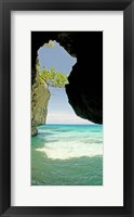 Framed Cliffside cave at Xtabi Hotel, Negril, Westmoreland, Jamaica