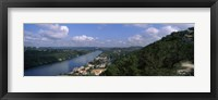 Framed High angle view of a city at the waterfront, Austin, Travis County, Texas, USA