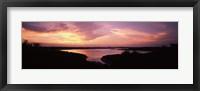 Framed Lake Travis at dusk - Pink Sky, Austin, Texas