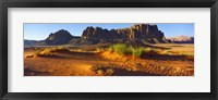 Framed Rock formations in a desert, Jebel Qatar, Wadi Rum, Jordan
