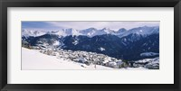 Framed Ski resort with mountain range in the background, Fiss, Tirol, Austria