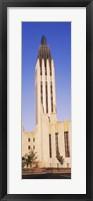 Framed Boston Avenue United Methodist Church in Tulsa, Oklahoma, USA