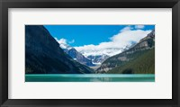 Framed Lake Louise with Canadian Rockies in the background, Banff National Park, Alberta, Canada