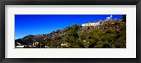 Framed Low angle view of Hollywood Sign, Hollywood Hills, Hollywood, Los Angeles, California, USA