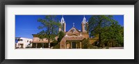 Framed Facade of a church, San Felipe de Neri Church, Old Town, Albuquerque, New Mexico, USA