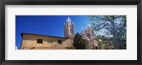 Framed Low angle view of a church, San Felipe de Neri Church, Old Town, Albuquerque, New Mexico, USA