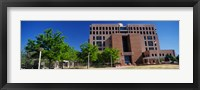 Framed Facade of a government building, Pete V.Domenici United States Courthouse, Albuquerque, New Mexico, USA