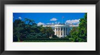 Framed Facade of a government building, White House, Washington DC
