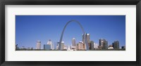 Framed Gateway Arch with city skyline in the background, St. Louis, Missouri