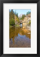 Framed Flowing stream in a forest, Banff National Park, Alberta, Canada