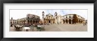 Framed People at Plaza De La Catedral, Cathedral of Havana, Havana, Cuba