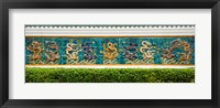 Framed Dragon frieze outside a building, Singapore Chinese Chamber of Commerce and Industry, Singapore