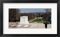 Framed Tomb of a soldier in a cemetery, Arlington National Cemetery, Arlington, Virginia, USA