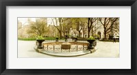 Framed Fountain in Madison Square Park in the spring, Manhattan, New York City, New York State, USA