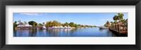 Framed Intercoastal waterway at West Palm Beach, Palm Beach County, Florida, USA