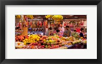Framed Fruits at market stalls, La Boqueria Market, Ciutat Vella, Barcelona, Catalonia, Spain