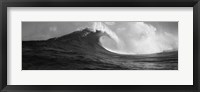 Framed Waves in the sea, Maui, Hawaii (black and white)
