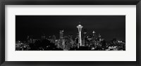 Framed Seattle Space Needle at Night 2010