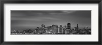 Framed Skyline viewed from Treasure Island, San Francisco, California, USA