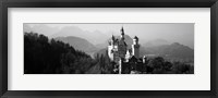 Framed Castle on a hill, Neuschwanstein Castle, Bavaria, Germany