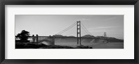 Framed Golden Gate Bridge in Black and White