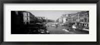 Framed Grand Canal in black and white, Venice, Italy