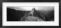 Framed Ruins, Machu Picchu, Peru (black and white)